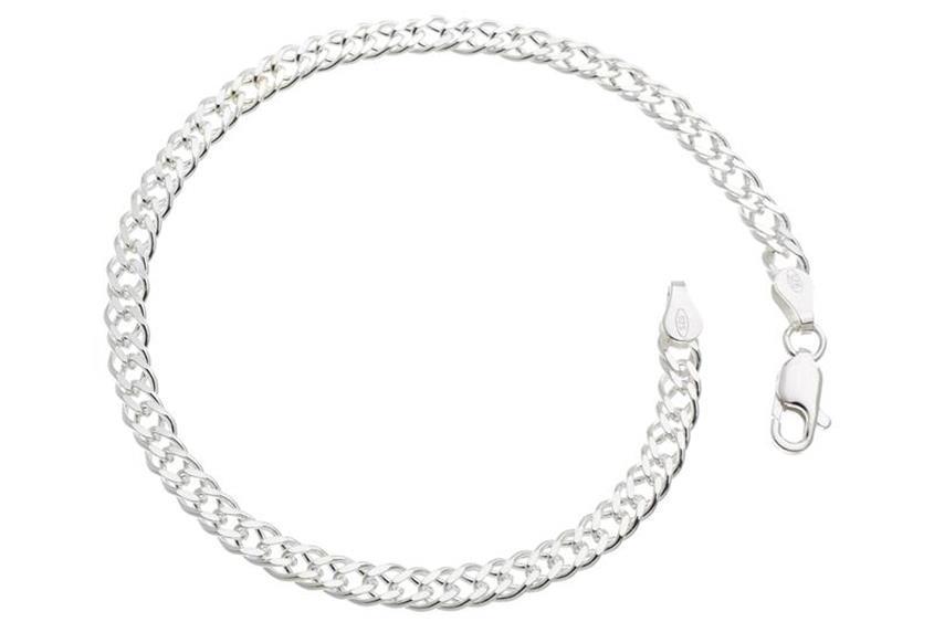 Zwillingspanzerkette Armband 4,5mm - 925 Silber