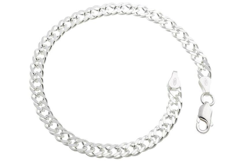 Zwillingspanzerkette Armband 5,5mm - 925 Silber