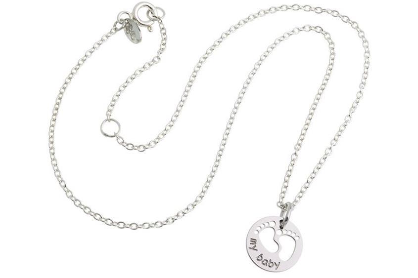 """Erbskette 1,6mm mit Anhänger """"my baby""""  925 Silber Länge: 35cm"""