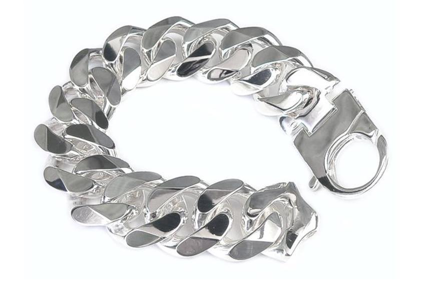 Panzerkette Armband 23mm - 925 Silber
