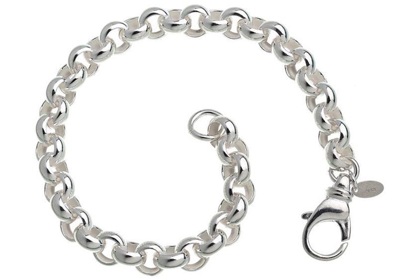 Rundes Erbskette Armband 7,2mm - 925 Silber