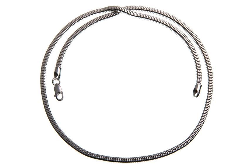 Schlangenkette, vierkant 3mm - 925 Silber