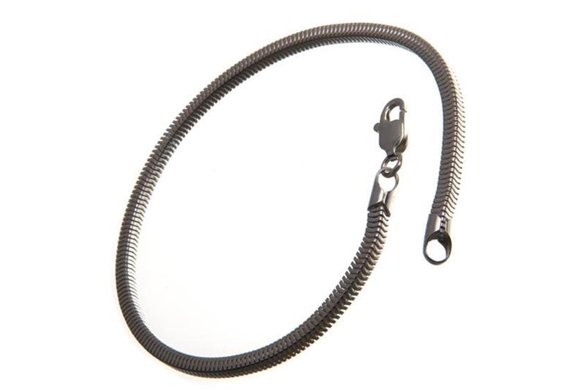 Schlangenkette Armband, vierkant 3mm
