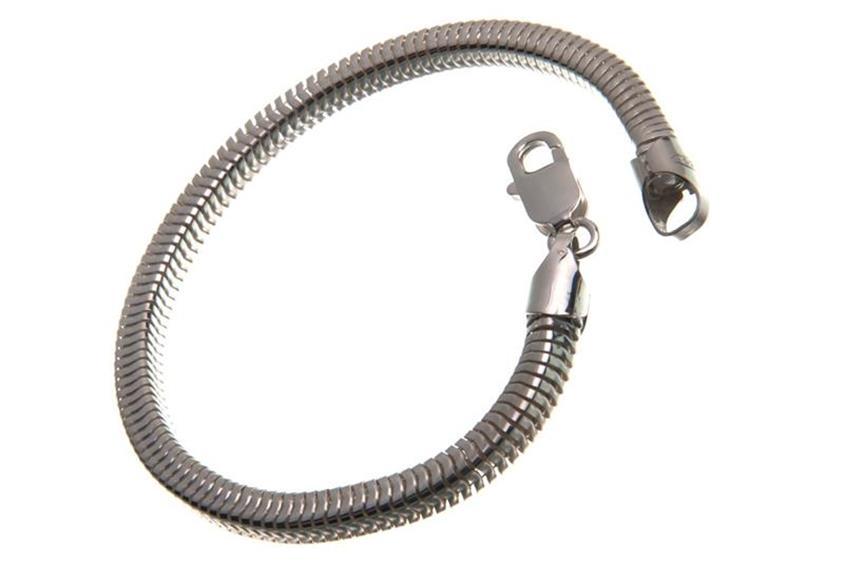 Schlangenkette Armband, vierkant 4,5mm - 925 Silber