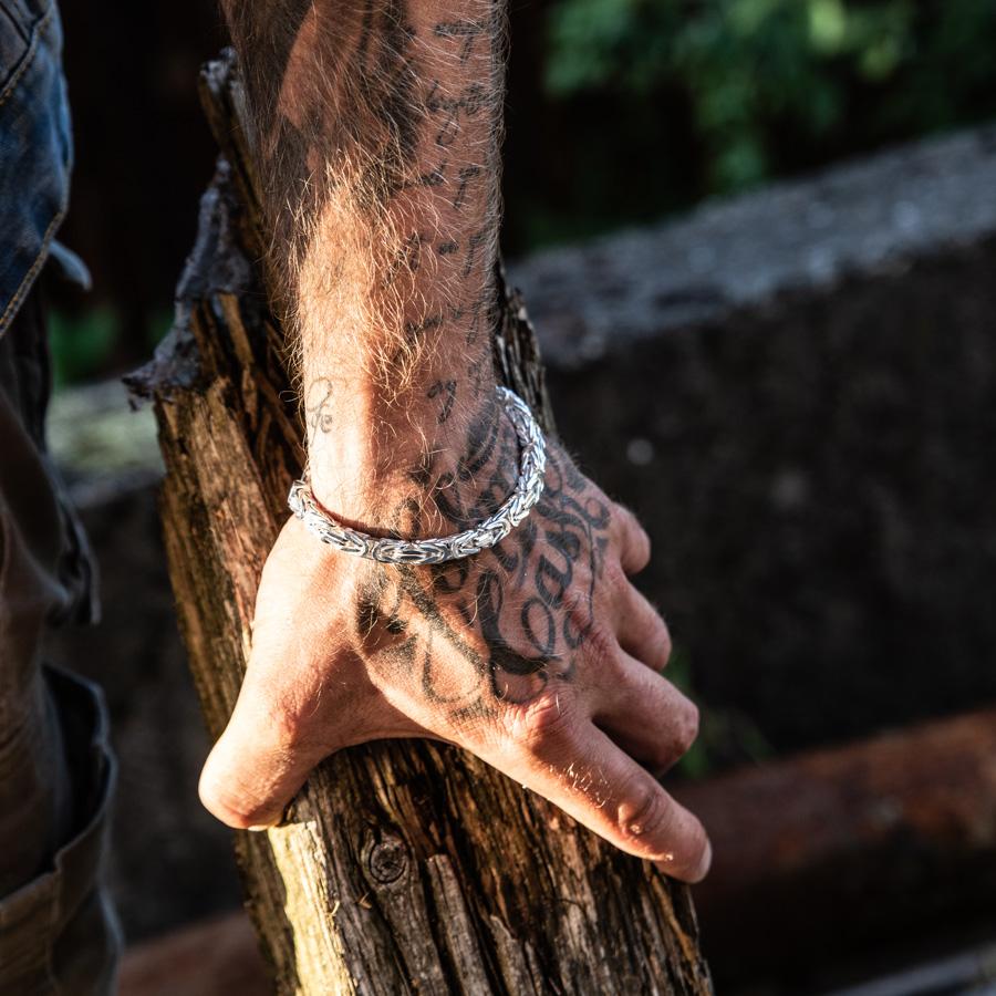 Königskette Armband silber